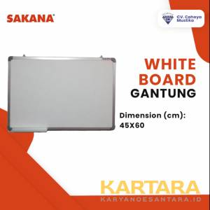 Sakana Papan Tulis Whiteboard Gantung Uk. 45 x 60 cm